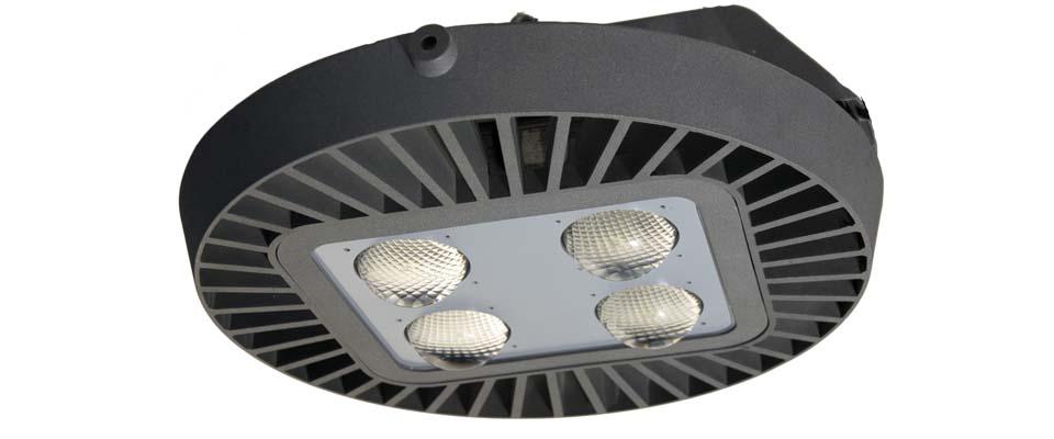 LED5V. Nuestras luminarias. Iluminación industrial. Campana. Modelo 2. Alzado