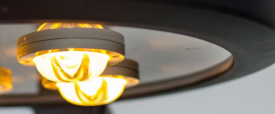 LED5V. Iluminación en espacios públicos. El diodo LED ámbar. Detalle