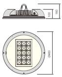 LED5V. Iluminación industrial. Campana Bardenas. Alzado