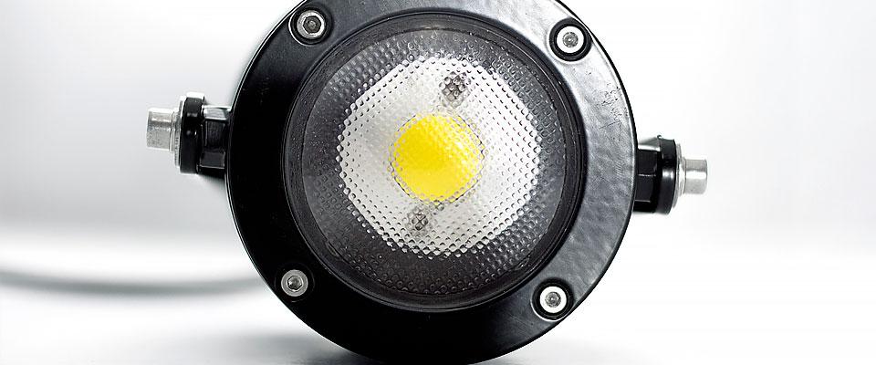 LED5V. Iluminación espacios singulares. Proyector LED David. Contenedor. Detalle LED.