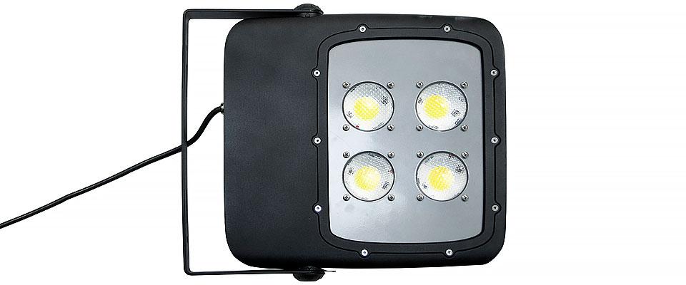 LED5V. Iluminación espacios singulares. Proyector LED Bolaso. Contenedor. Detalle vista por debajo