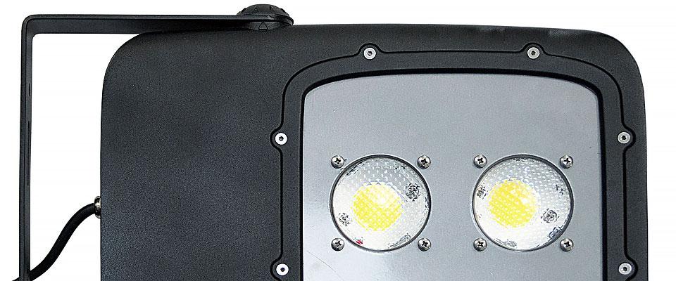 LED5V. Iluminación espacios singulares. Proyector LED Bolaso. Contenedor. Detalle LED