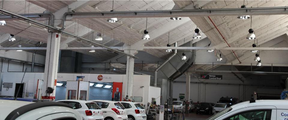 LED5V. Nuestros Proyectos. Iluminación Industrial. Can Feu