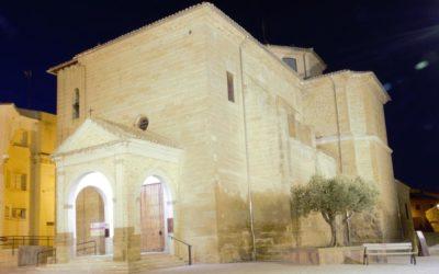 Ejea de los Caballeros – Iglesia de la Oliva: proyector LED David.